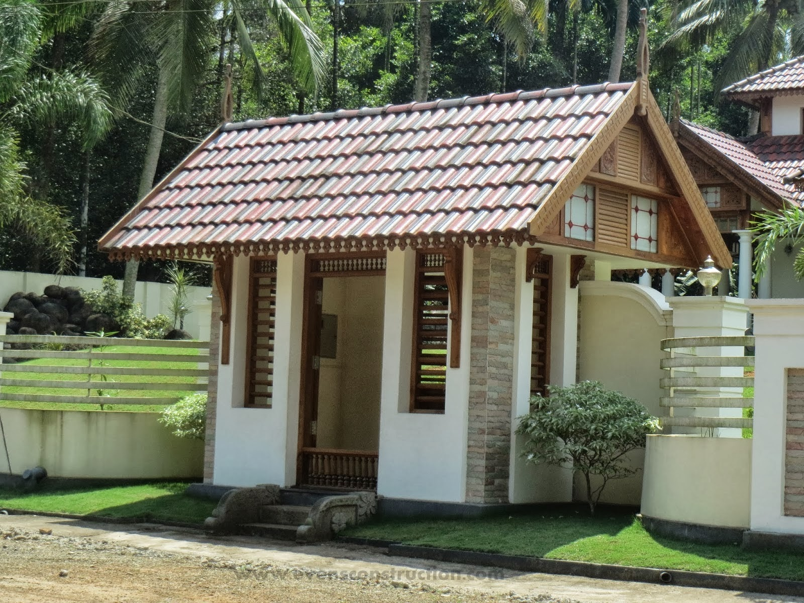 Evens construction pvt ltd compound walls and gates for House compound designs pictures