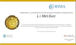 4 Premios RIMA a la Excelencia en Actualización Cientifica