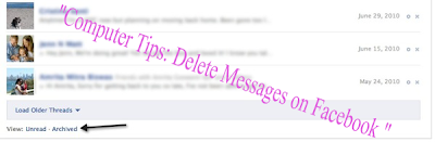 Computer Tips: Delete Messages on Facebook