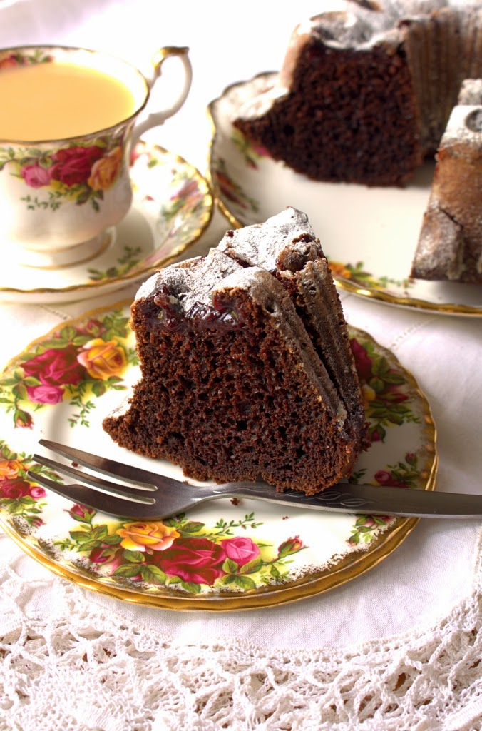 Tunnel of Jam Chocolate Bundt Cake