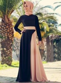 Gaun pesta berkonsep islami desain casual dan elegan