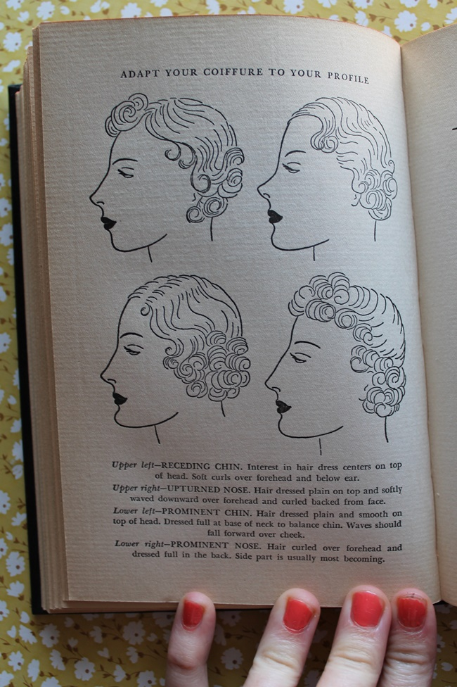 1930s vintage hair and makeup tips and hairstyling instructions from Helena Rubenstein via VaVoomVintage.net