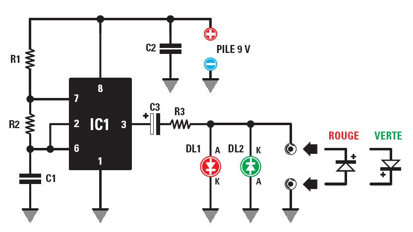 un testeur de polarit u00e9 pour diodes