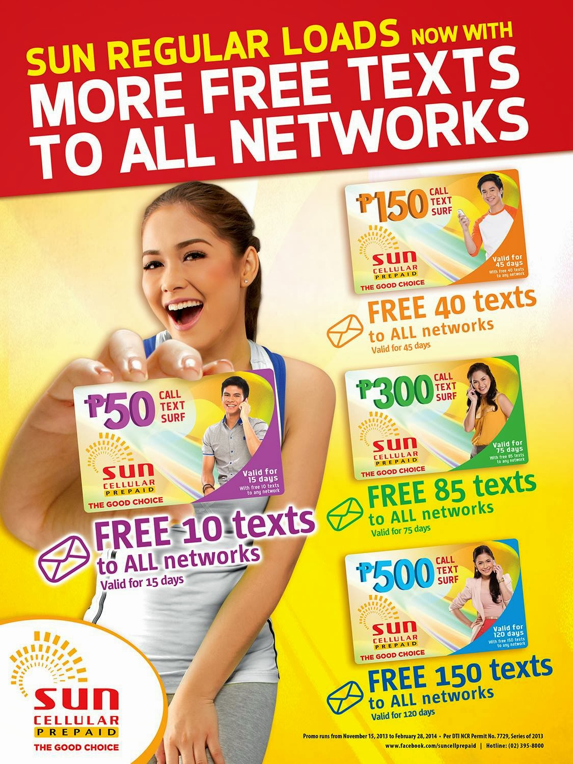 Sun Regular Load now Offers More FREE texts to ALL networks and Longer Validity