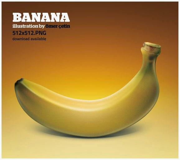 Banana Illustration Icon
