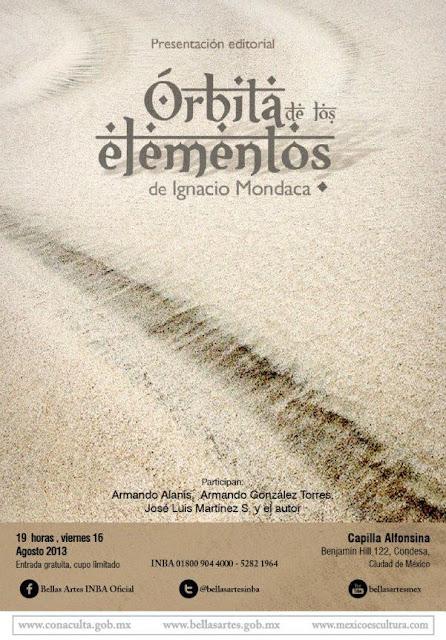 """Presentación del libro """"Órbita de los elementos"""" de Ignacio Mondaca"""
