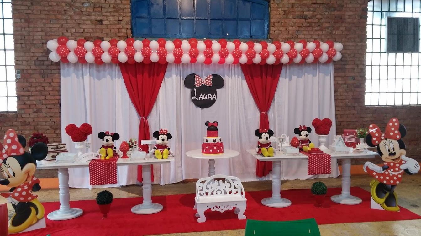 Momento Mágico Decorações  Festa Minnie Vermelha Provençal