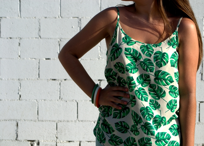palm print top vero moda