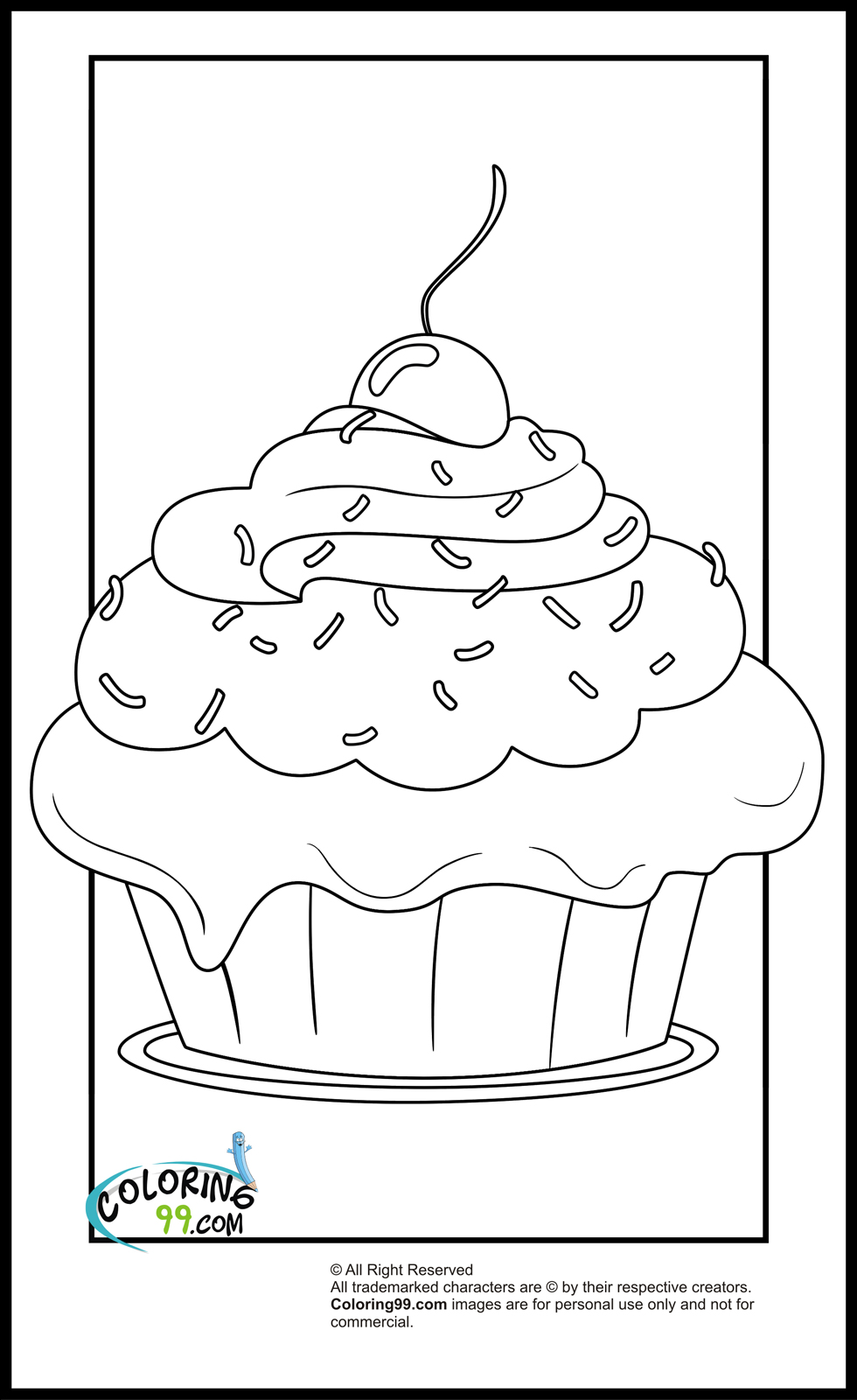 christmas cupcake coloring pages - photo#27