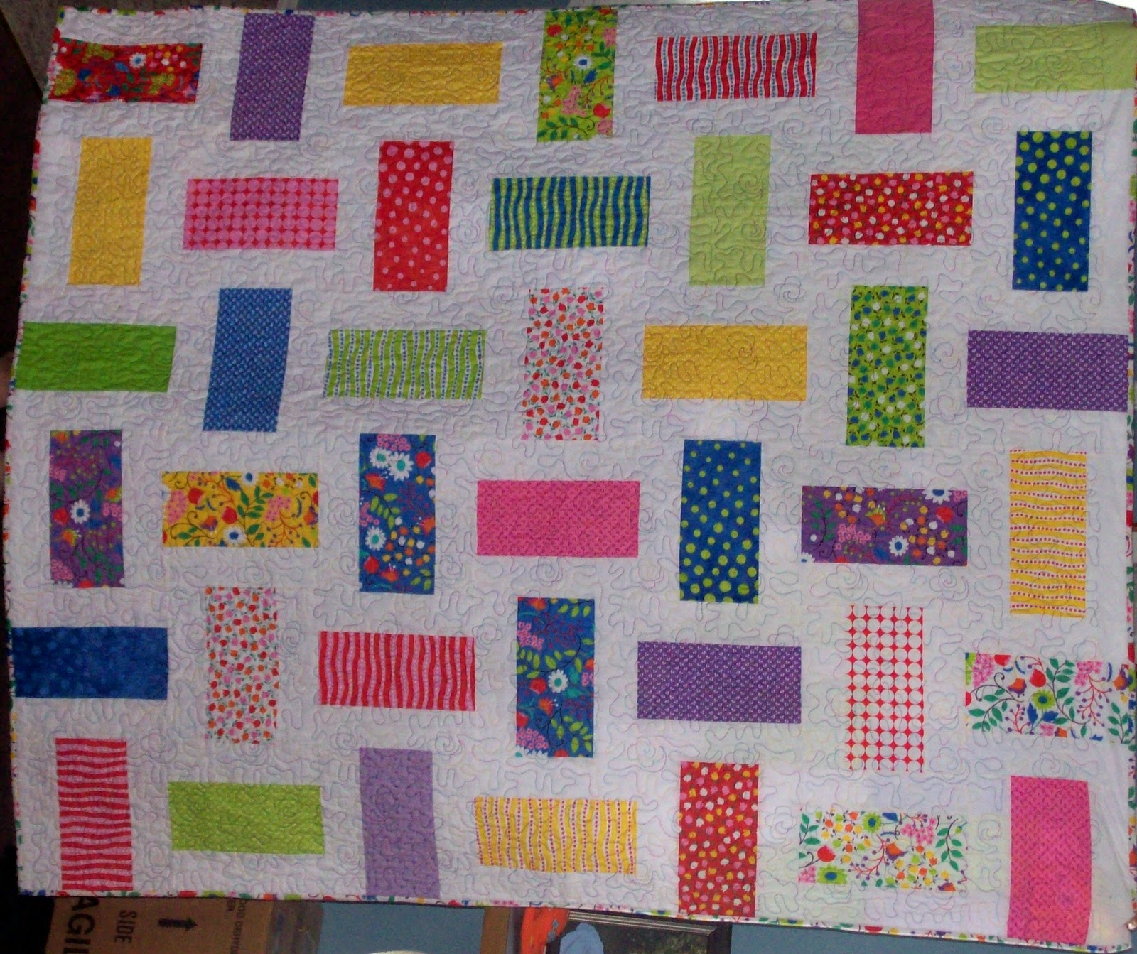 Mamabill Quilts: Split Layer Cake Quilt