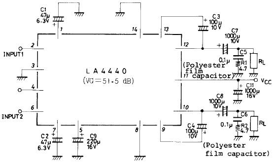 schematic gallery  4440 ic amplifier
