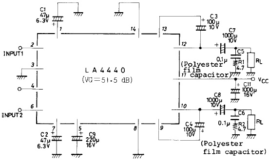 schematic gallery  4440 ic amplifier