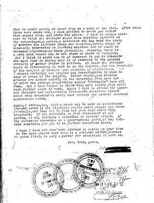 Letter To Hoover Re Green Fireballs (4) 2-26-1952