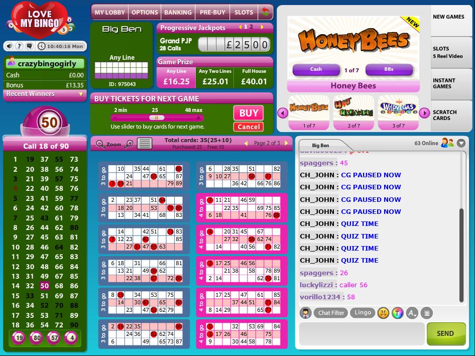 90 ball bingo sites