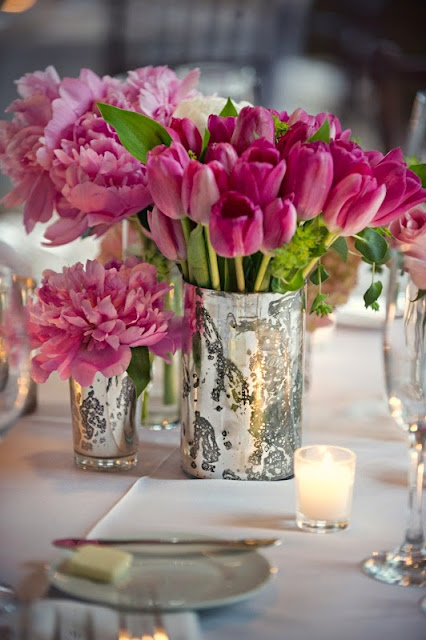 pink wedding centerpiece idea
