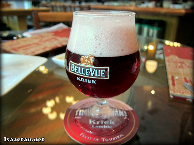 Belle Vue Kriek half pint at Brussels Beer Cafe Menara Hap Seng