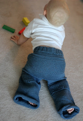 Kanoko pants for Baby free knitting pattern