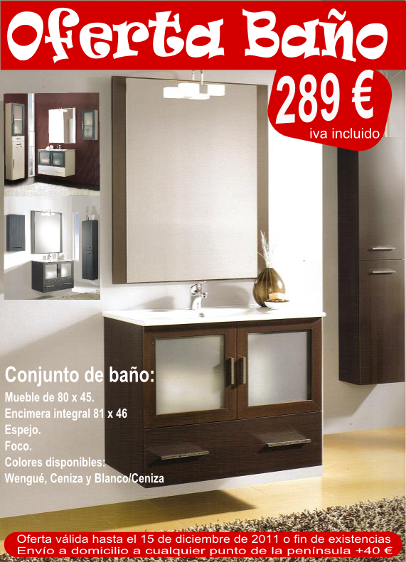 El blog del ba o oferta prenavide a mueble de ba o 289 - Oferta muebles de bano ...