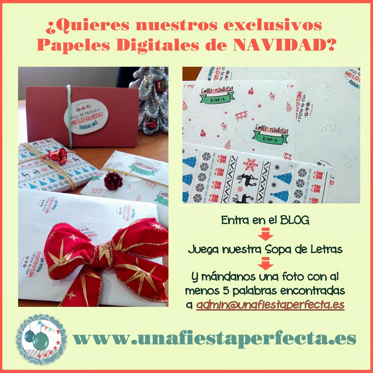 Unafiestaperfecta - promo Sopa de letras
