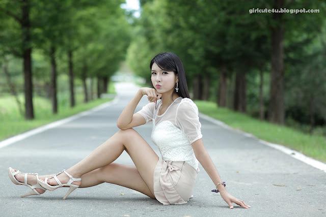 9 Cha Sun Hwa-Ruffle Mini Dress-very cute asian girl-girlcute4u.blogspot.com