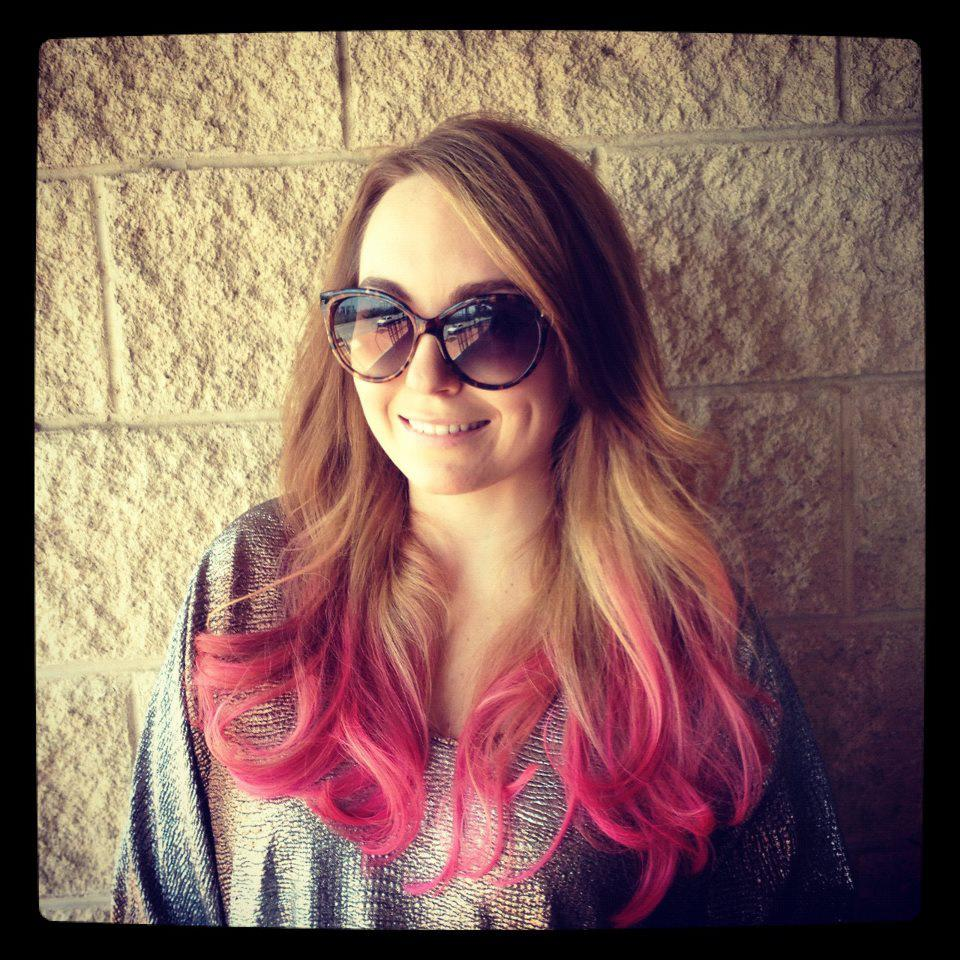 pin black hair pink ends long wavy on pinterest