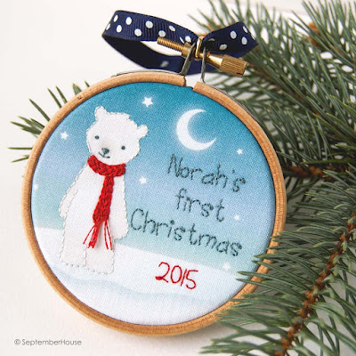 2015 Baby's First Christmas Polar Bear Ornament by SeptemberHouse
