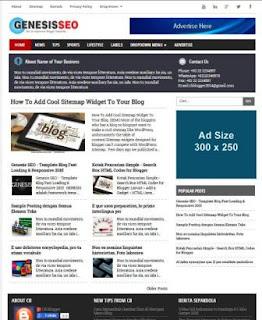 Genesis SEO - Template Blog Super Fast Loading & Responsive