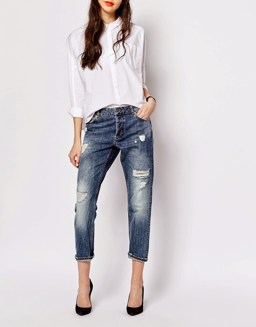 monki girlfriend jeans, ripped girlfriend jeans asos,