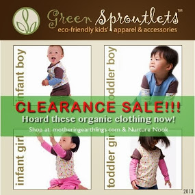 SALE! 50% Off on Organic Clothes for kids and babies