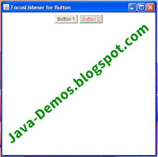 Using FocusListener on AWT Button