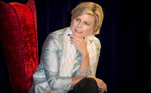 Dutch Princess Laurentien attended a reading session at tema park De Efteling in Kaatsheuvel