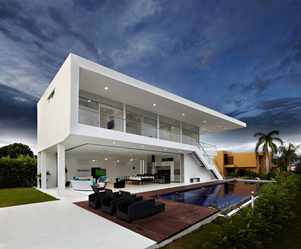 Residence In Colombia Displaying A Minimalist Design Approach. GM1 House
