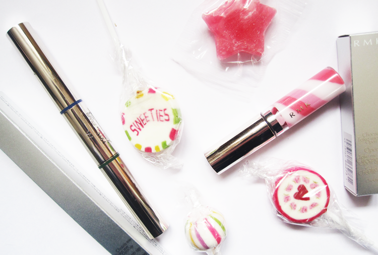 RMK W Colour Mascara in Indigo & Green and Drop Gloss Lip Gloss in Rose - Vintage Sweets Collection S/S15