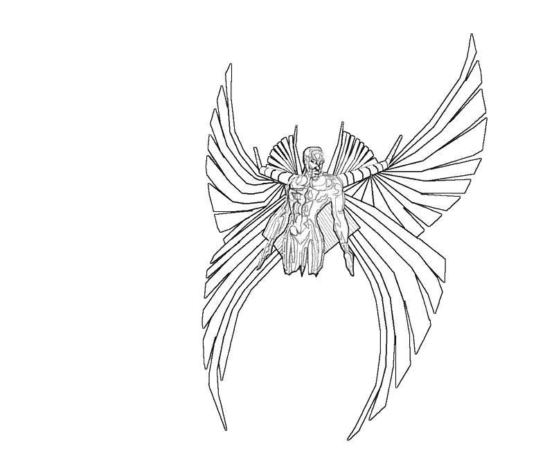 Printable Archangel Wings Coloring Pages