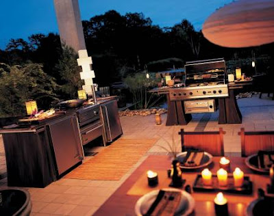 Customized Island In An Outdoor Kitchen