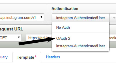 click on OAuth2