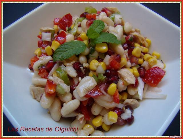 Ensalada de alubias blancas las recetas de olguichi - Ensalada de alubias ...