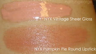 nyx pumpkin pie lipstick swatch