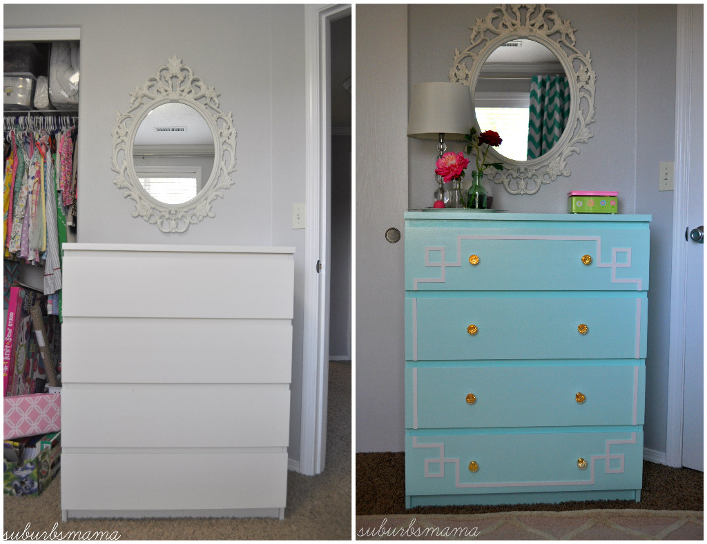suburbs mama ikea malm dresser hack before and after