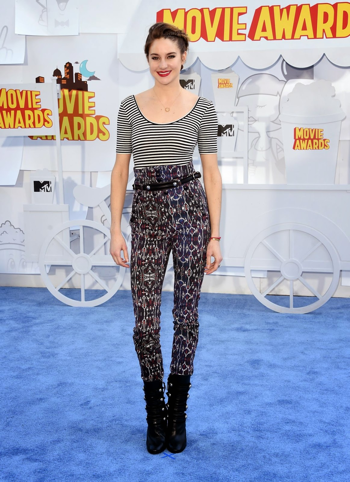 Shailene Woodley is edgy in Isabel Marant at the 2015 MTV Movie Awards