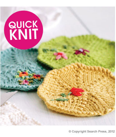 Knitted Coasters Free Patterns : Eight-by-Six: free pattern for knitted coasters