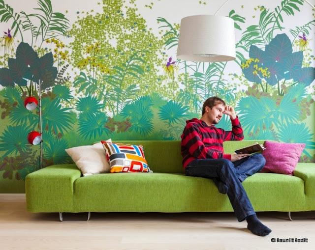 Zurück zur Natur - Maurizio Giovannoni und seine Tapete im Palmen-Design