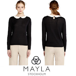 MAYLA Silk Sweater Princess Victoria Style