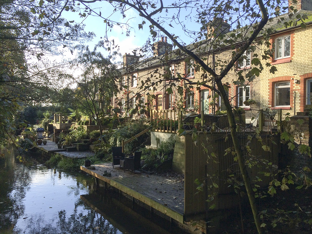 Riverside houses in Shoreham. 2 November 2013.