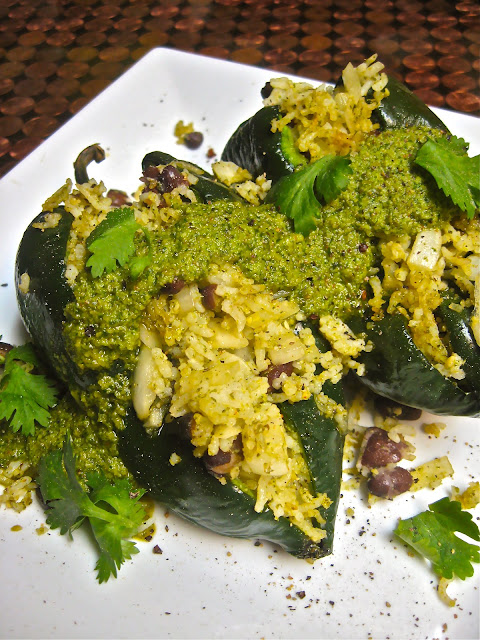 Spicy Cilantro Pepita Pesto Stuffed Peppers (And, yes, that is my new ...