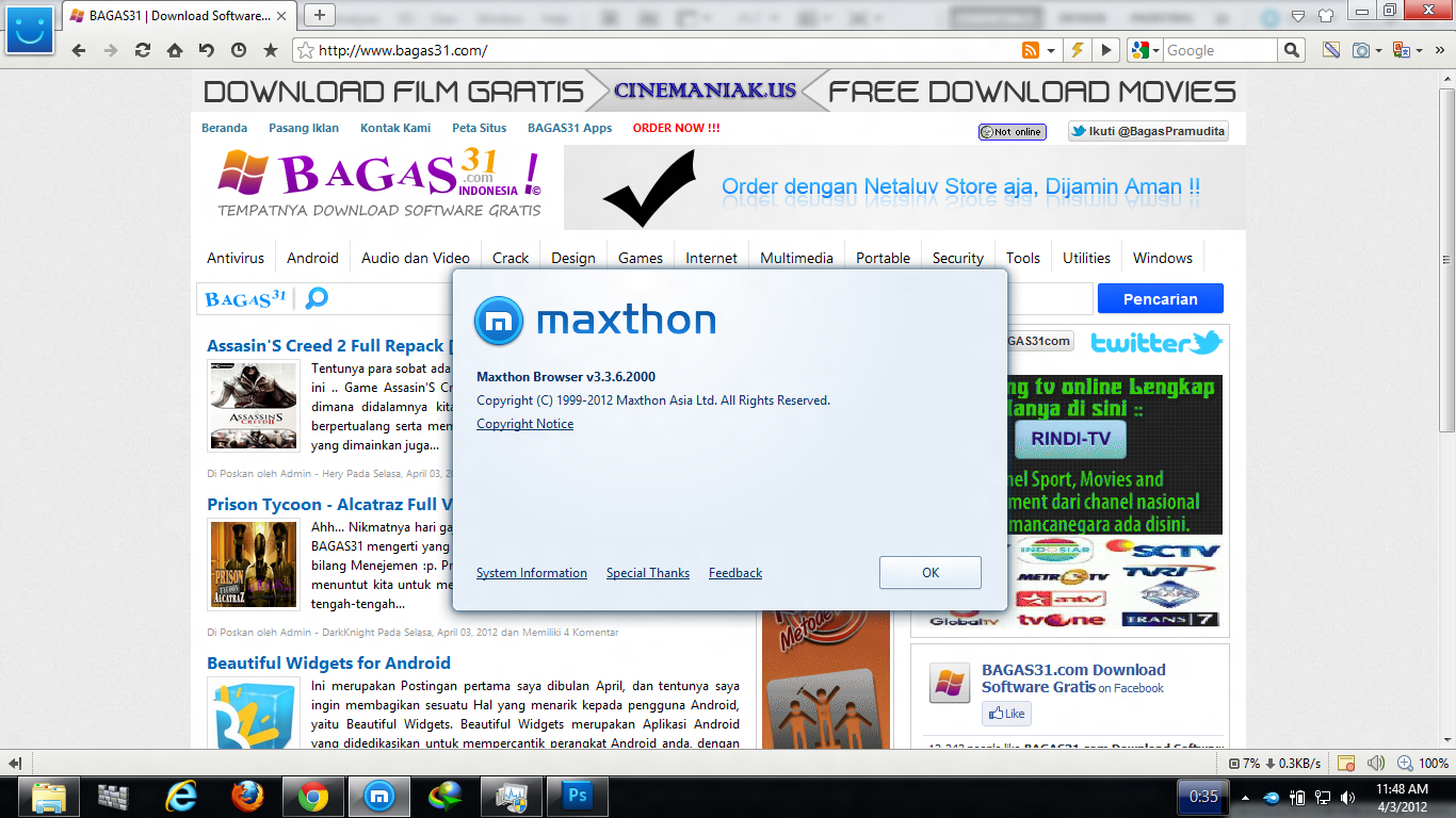 Maxthon Browser 3.3.6.2000