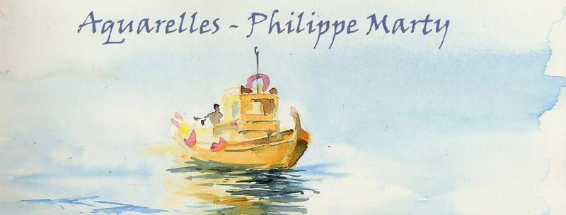 Aquarelles Philippe Marty