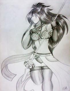Garota de armadura (desenho)
