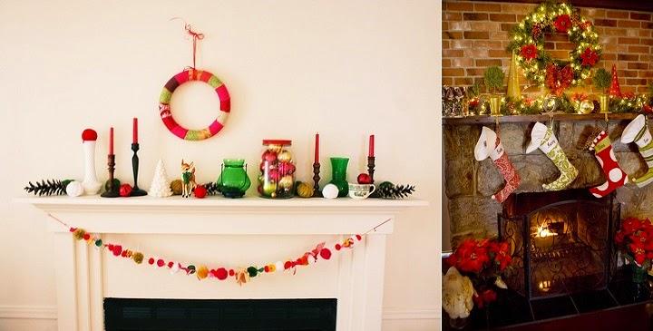 Marzua decorar la chimenea en navidad - Chimeneas para decorar ...