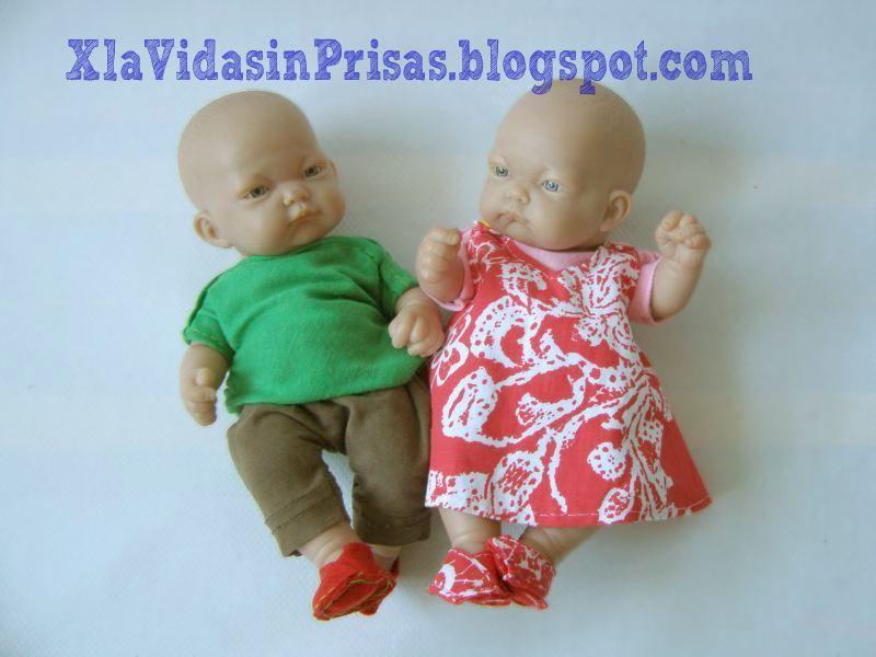 X la Vida sin Prisas-: Ropa de bebés-muñeco